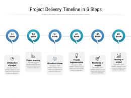 Project Delivery Timeline In 6 Steps
