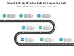 Project Delivery Timeline Slide For Degree Big Data Infographic Template