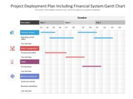 Project Deployment Plan Including Financial System Gantt Chart