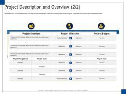 Project Description And Overview Engagement Management Ppt Diagrams