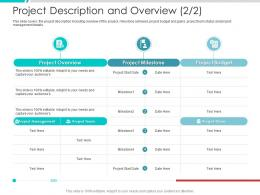 Project Description And Overview Team Project Engagement Management Process Ppt Structure