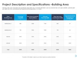 Project Description And Specifications Building Area M711 Ppt Powerpoint Presentation Ideas
