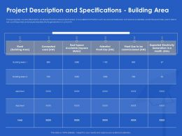 Project Description And Specifications Building Area Month Ppt Powerpoin Visuals