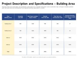 Project Description And Specifications Building Area Potential Connected Ppt Powerpoint Presentation Portfolio
