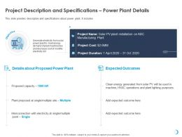 Project Description And Specifications Power Plant Details M709 Ppt Powerpoint Presentation Good