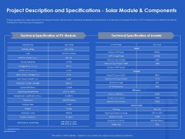 Project Description And Specifications Solar Module And Components Short Ppt Template