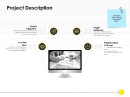 Project Description Audience Ppt Powerpoint Presentation Deck