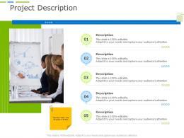 Project Description Business Project Planning Ppt Template