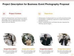 Project Description For Business Event Photography Proposal Ppt Powerpoint Presentation Slides