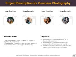 Project Description For Business Photography Ppt Powerpoint Presentation