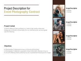 Project Description For Event Photography Contract Ppt Powerpoint Presentation