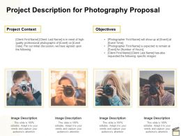 Project Description For Photography Proposal Ppt Powerpoint Presentation