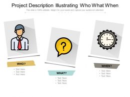 Project Description Illustrating Who What When