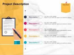 Project Description Ppt Examples Professional