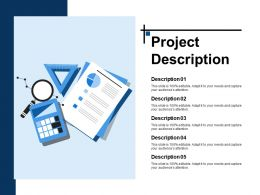 Project Description Ppt Slide Templates