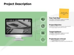 Project Description Scope Ppt Powerpoint Presentation Ideas Display