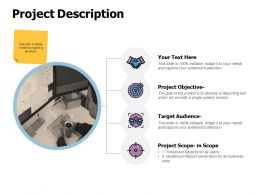 Project Description Target Audience Ppt Powerpoint Presentation