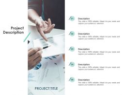 Project Description Title Ppt Powerpoint Presentation Gallery Templates