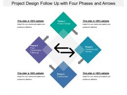 Project Design Follow Up With Four Phases And Arrows