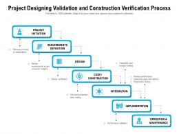Project Designing Validation And Construction Verification Process