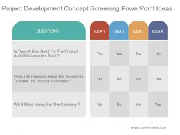 Project Development Concept Screening Powerpoint Ideas