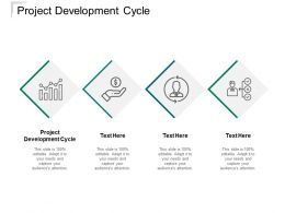 Project Development Cycle Ppt Powerpoint Presentation Show Vector Cpb