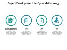 Project Development Life Cycle Methodology Ppt Powerpoint Presentation Microsoft Cpb