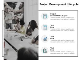 Project Development Lifecycle Ppt Powerpoint Presentation Styles Gridlines Cpb