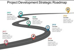 Project Development Strategic Roadmap Powerpoint Layout