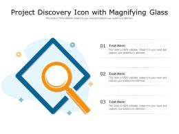Project Discovery Icon With Magnifying Glass