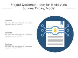 Project Document Icon For Establishing Business Pricing Model