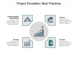 Project Escalation Best Practices Ppt Powerpoint Presentation Icon File Formats Cpb