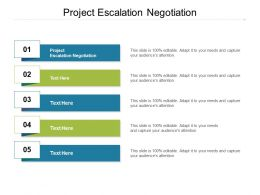 Project Escalation Negotiation Ppt Powerpoint Presentation Inspiration Graphic Images Cpb