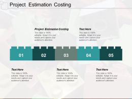 Project Estimation Costing Ppt Powerpoint Presentation Inspiration Diagrams Cpb