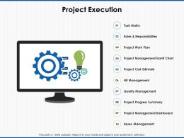 Project Execution Management Gantt Ppt Powerpoint Presentation File Inspiration
