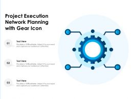 Project Execution Network Planning With Gear Icon