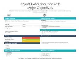 Project Execution Plan With Major Objectives