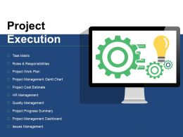 Project Execution Ppt Gallery Model
