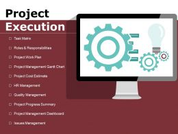 Project Execution Ppt Powerpoint Presentation Gallery Slide Download