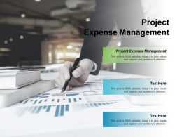 Project Expense Management Ppt Powerpoint Presentation File Icon Cpb