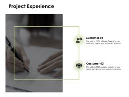Project Experience Communication Management Ppt Powerpoint Presentation Icon Design Inspiration