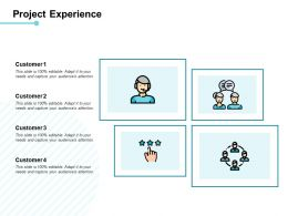 Project Experience Customer Ppt Powerpoint Presentation File Portfolio