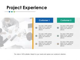 Project Experience Ppt Powerpoint Presentation Gallery Deck