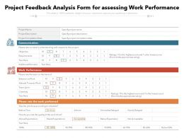 Project Feedback Analysis Form For Assessing Work Performance