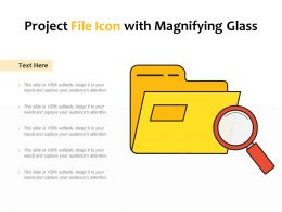 Project File Icon With Magnifying Glass