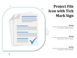 Project File Icon With Tick Mark Sign