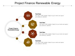Project Finance Renewable Energy Ppt Powerpoint Presentation Styles Samples Cpb