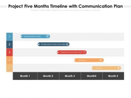 Project Five Months Timeline With Communication Plan