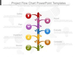 Project Flow Chart Powerpoint Templates