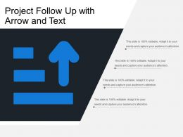 Project Follow Up With Arrow And Text